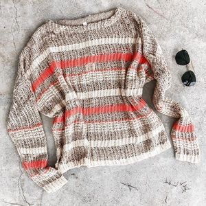 NWT striped sweater